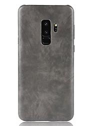 ieftine -Maska Pentru Samsung Galaxy S9 Plus / S9 Mătuit Capac Spate Mată Greu PU piele pentru S9 / S9 Plus