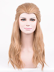 cheap -Synthetic Wig Curly Blonde Side Part Synthetic Hair 20inch Cosplay / Party Blonde Wig Men's Long Capless Strawberry Blonde / Light Blonde