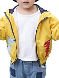 Недорогие -Дети Мальчики С принтом Длинный рукав Костюм / блейзер