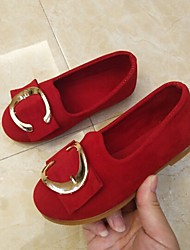 baratos -Para Meninas Sapatos Camurça Primavera Verão Conforto Rasos Caminhada Presilha para Adolescente Roxo / Vermelho / Verde