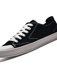 Недорогие -Муж. Свиная кожа Осень Удобная обувь Кеды Черный / Серый / Хаки