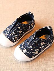 preiswerte -Mädchen Schuhe Leinwand Frühling & Herbst Komfort Flache Schuhe Blume für Baby Blau