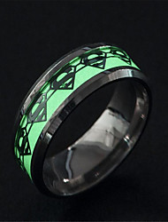 cheap -Men's Luminous Stone Retro Band Ring - Stainless Steel Unique Design, Tattoo Style, Fashion Silver For Street / Club