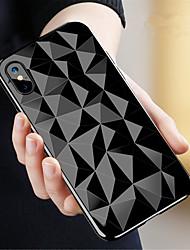 Недорогие -Кейс для Назначение Apple iPhone X / iPhone 8 Прозрачный Кейс на заднюю панель Геометрический рисунок Мягкий ТПУ для iPhone X / iPhone 8 Pluss / iPhone 8