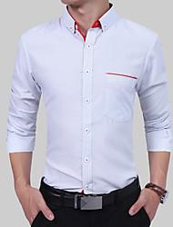 cheap -Men's Basic / Street chic Shirt - Polka Dot / Color Block Print