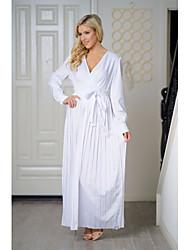 cheap -Women's Cotton Slim Sheath Dress Maxi Deep V / Spring / Fall