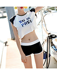 cheap -Women's Cover-Up - Solid Colored / Color Block / Letter Backless Boy Leg
