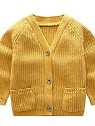 cheap -Toddler Girls' Solid Colored Long Sleeve Sweater & Cardigan