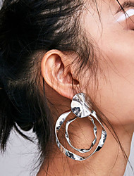 cheap -Women's Layered / Hollow Drop Earrings / Hoop Earrings - Believe Trendy, Fashion, Elegant Green / Light Blue / Light Pink For Street / Work