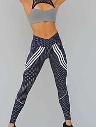 cheap -women's skinny sweatpants pants - polka dot high waist