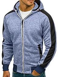 Недорогие -Муж. Классический Толстовка / толстовка с капюшоном куртки - Однотонный