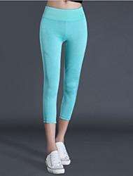 billige -Dame Daglig Basale Legging - Ensfarvet Høj Talje