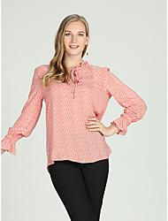 economico -T-shirt Per donna Attivo / Essenziale Lacci, Tinta unita / A quadri