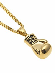 cheap -Men's Cuban Link Pendant Necklace / Chain Necklace - Stainless Boxing Gloves European, Trendy, Hip-Hop Gold, Silver 60 cm Necklace 1pc For Gift, Street