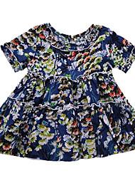 cheap -Baby Girls' Floral Short Sleeve Dress