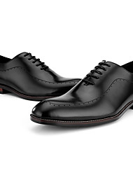 abordables -Hombre Zapatos formales Cuero de Napa Primavera Oxfords Negro / Marrón