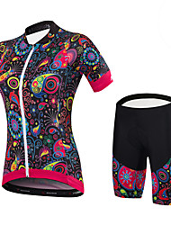 cheap -Malciklo Women's Short Sleeve Cycling Jersey with Shorts - Black Bike Clothing Suit Spandex, Coolmax®, Mesh Patterned / Stretchy / Lycra / SBS Zipper