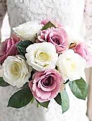 baratos -Flores artificiais 1 Ramo Solteiro (L150 cm x C200 cm) Casamento / buquês de Noiva Rosas Flor de Mesa