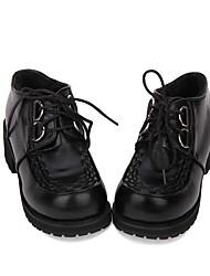 abordables -Chaussures Lolita Classique / Traditionnelle / Punk Punk / Gothique Hauteur de semelle compensée Chaussures Couleur Pleine 5 cm CM Noir Pour PU