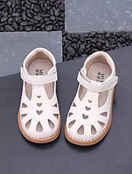 cheap -Girls' Shoes Microfiber Summer Comfort / Flower Girl Shoes Sandals for White / Black / Pink