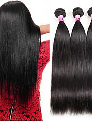 cheap -3 Bundles Brazilian Hair Natural Straight Human Hair Bundle Hair / Human Hair Extensions 8 inch-26 inch Natural Human Hair Weaves Machine Made Hot Sale / For Black Women / 100% Virgin Human Hair