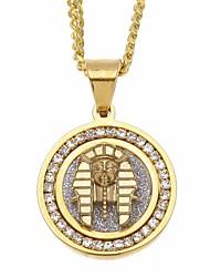 cheap -Men's Cubic Zirconia Stylish / Cuban Link Pendant Necklace / Chain Necklace - Stainless Mini, Head Unique Design, European, Hip-Hop Gold 60 cm Necklace 1pc For Street, Festival