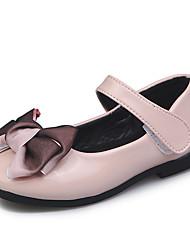 economico -Da ragazza Scarpe PU (Poliuretano) Autunno inverno Scarpe da cerimonia per bambine Ballerine Footing Fiocco / Fibbia per Bambino Bianco / Nero / Rosa