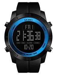 Недорогие -SKMEI Муж. Спортивные часы / электронные часы Китайский Календарь / Защита от влаги / Хронометр PU Группа Роскошь / На каждый день Черный