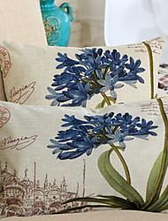 baratos -1 pçs Algodão / Linho Almofada de Corpo, Floral Flor