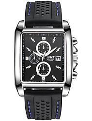 Недорогие -BOSCK Муж. Наручные часы Китайский Календарь / Защита от влаги / Новый дизайн силиконовый Группа Роскошь / Мода Черный