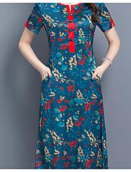 Недорогие -Жен. Тонкие Оболочка Платье Средней длины