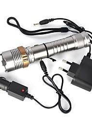abordables -Linternas LED LED 2000 lm 1 Modo de Iluminación Portátil / Profesional Camping / Senderismo / Cuevas Plata