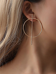 abordables -Femme Boucles d'oreille goujon - Goutte simple, Géométrique, Original Or / Noir / Argent Pour Fête / Soirée Carnaval Plein Air / énorme