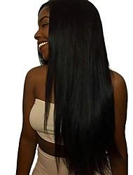 Недорогие -4 Связки Бирманские волосы Прямой Натуральные волосы / Необработанные натуральные волосы Подарки / Косплей Костюмы / Человека ткет Волосы 8-28 дюймовый Естественный цвет Ткет человеческих волос