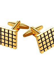 cheap -Cubic Silver / Golden Cufflinks Copper Formal Men's Costume Jewelry For Gift / Daily