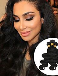 baratos -3 pacotes Cabelo Brasileiro Ondulado Cabelo Humano Cabelo Humano Ondulado / Extensor 8-28 polegada Tramas de cabelo humano Fabrico à Máquina Lady sexy / Melhor qualidade / Venda imperdível Natural