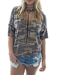 Недорогие -женская футболка - камуфляж с капюшоном