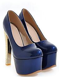 economico -Per donna Scarpe Vernice Primavera Comoda Tacchi A stiletto Grigio / Blu / Rosa