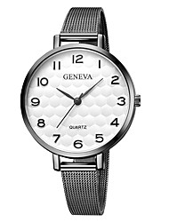 cheap -Geneva Women's Wrist Watch Chinese New Design / Casual Watch / Cool Alloy Band Casual / Fashion Black / Silver / Gold / One Year