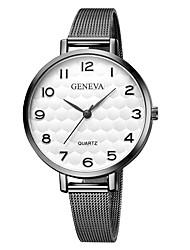 Недорогие -Geneva Жен. Наручные часы Китайский Новый дизайн / Повседневные часы / Cool сплав Группа На каждый день / Мода Черный / Серебристый металл / Золотистый / Один год