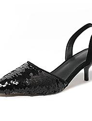 povoljno -Žene Cipele Ovčja koža Ljeto Obične salonke Cipele na petu Stiletto potpetica Crn / Pink / Plava