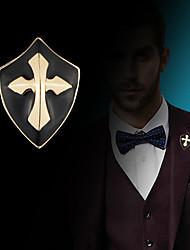 preiswerte -Herrn Kubikzirkonia Vintage Stil / Stilvoll Broschen - Kreuz, Kreativ Retro, Modisch, Antikes Rom Brosche Gold / Silber Für Party / Alltag