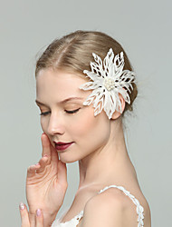 cheap -Feathers Fascinators with Feather / Solid 1pc Wedding / Special Occasion Headpiece