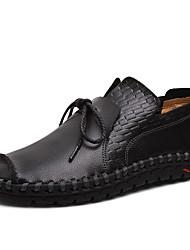 povoljno -Muškarci Cipele za noviteti Koža Proljeće ljeto Vintage / Ležerne prilike Natikače i mokasinke Hodanje Prozračnost Crn / žuta / Bijela