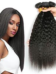 Недорогие -3 Связки Малазийские волосы Вытянутые Натуральные волосы / Необработанные натуральные волосы Подарки / Косплей Костюмы / Человека ткет Волосы 8-28 дюймовый Естественный цвет Ткет человеческих волос