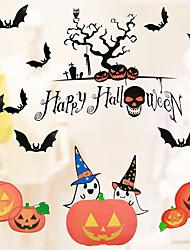 Недорогие -Оконная пленка и наклейки Украшение Художественные / Ретро / С узором / Хэллоуин Праздник ПВХ Стикер на окна / Магазин / Кафе