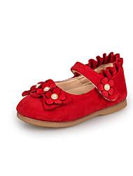 baratos -Para Meninas Sapatos Couro Ecológico Primavera & Outono Sapatos para Daminhas de Honra Rasos Caminhada Laço / Flor / Babados em Cascata para Infantil Fúcsia / Vermelho / Rosa claro / Festas & Noite
