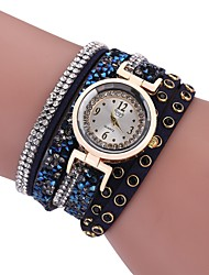 cheap -Women's Bracelet Watch Quartz New Design Casual Watch Imitation Diamond PU Band Analog Casual Fashion Black / White / Blue - Gray Brown Blue One Year Battery Life
