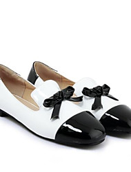 お買い得  -女性用 靴 PUレザー 夏 コンフォートシューズ ローファー&スリップアドオン フラットヒール クローズトゥ ブラック / レッド