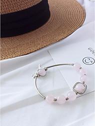 cheap -Women's Stylish / Beads Strand Bracelet / Pendant Bracelet - Moon, Star Stylish, Sweet, Elegant Bracelet Dark Blue / Brown / Pink For Date / Work